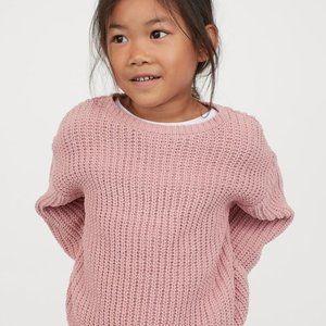H&M Bubblegum Pink Crop Balloon Sleeve Sweater